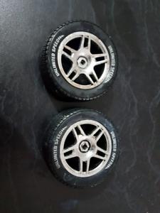 Remote car wheels x 2