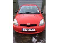 Toyota Yaris 1.0 (1 years MOT) £600