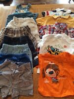 Shorts and tees size 6-9 months