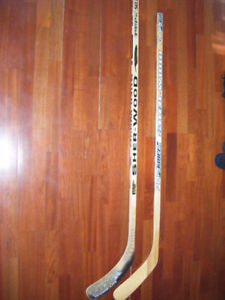 2 hockey sticks for sale
