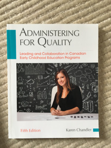 Administering for Quality (5th Ed) Textbook for Sale!