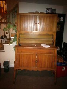 Antique china hutch cabinet