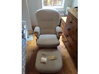 Dutailier Nursing chair and footstool