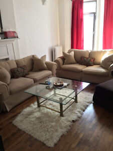 Bauhaus Style 2 Seater Beige Sofa (Two sets)