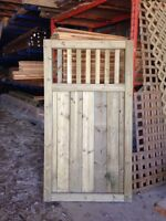 Pressure treated green gate