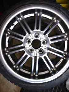 18 inch wheels with winter tires (5x120 bolt pattern)