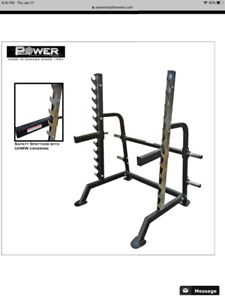 Commercial quality bench, rack and weights set for sale!