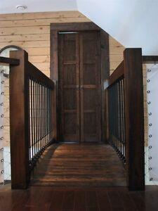 Pruche Chiplap pour murs de bois - planches de grange