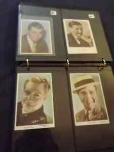 1930/S MALE MOVIE STARS COLOR POSTCARDS/6 VARIOUS:GABLE,COLMAN