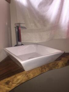 lavabo vasque carré porcelaine