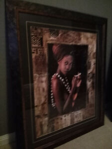 Set of matching african/carribean pictures