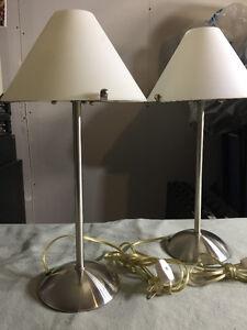 Lampes de table les 2 pour 15 $