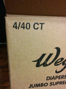 Wegmans size 1 diapers (2 boxes-160 diapers per box)