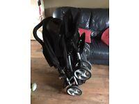 Graco duo stadium tandem buggy (double buggy) and car seats