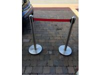 Retractable Cafe Barrier x5