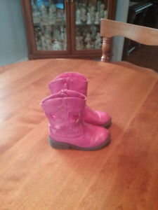 Girl's Pink Cow Girl Boots