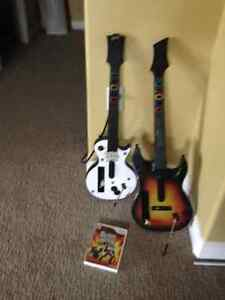 Wii system Guitar Hero 2 Guitars and game