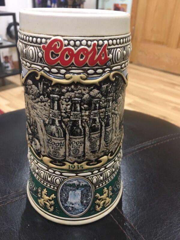 """True Vintage 1990 Coors 7"""" Beer Stein Mug"""