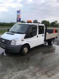 Ford Transit crew cab flat bed pick up