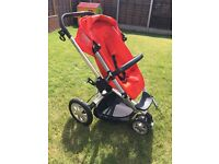 Quinny Buzz red 3 wheel pushchair