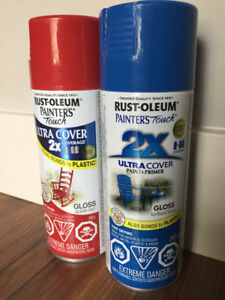 Rustoleum Spray Paint - Red and Blue