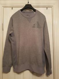 Mens Grey Adidas Sweatshirt Size small Vgc
