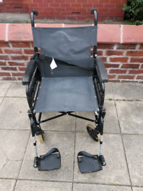 Lomax Transport Wheelchair (Wide Seat)