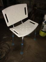 Two shower seats