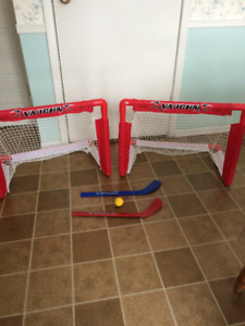 Two Mini Hockey nets (two mini-sticks and one ball included)
