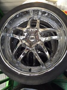 MERCEDES Dodge Rims Nitto tires 265-35R22