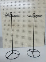 """Two 25"""" tall Steel Metal Lanyard Counter Spinner Displays - new"""