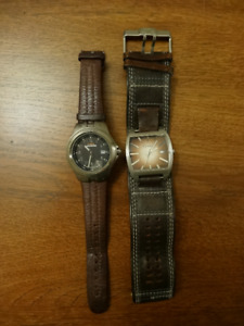 2 Watches (Fossil & Timex)