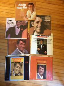 Dean Martin 10 LP records VG-VG+