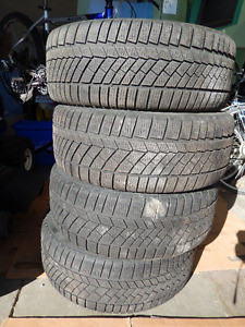 Continental snow tires with steel rimes (4)