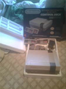 Boxed NES with 26 games