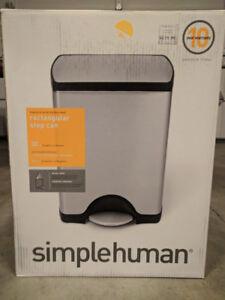 Simplehuman Rectangular Step Trash Can 30L