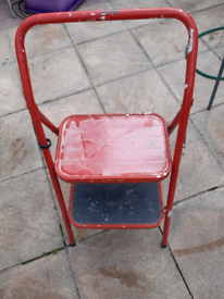 Small step ladder red