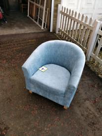 Duck egg blue tub chair