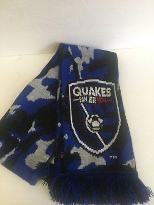 sports shoes e254b c58d2 SAN JOSE EARTHQUAKES SCARF MLS Soccer camouflage blue gray black