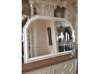 Pretty large chunky pine mantel mirror