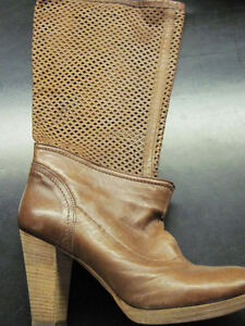 BRAND NEW REAL LEATHER & SUEDE with REAL WOOD HEELS BOOTS Oakville / Halton Region Toronto (GTA) image 5