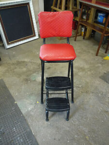 red vintage stool step ladder London Ontario image 2