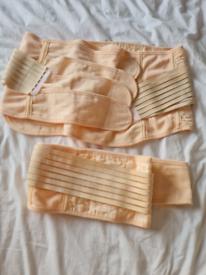 Mamma bump belt and maternity bra