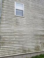 Dirty Eaves Gutters Siding  Decks &  Heat Pump Cleaning