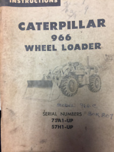 1967 Operation and Maintenance instructions for Cat 966 Loader