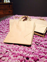 Shabby Chic Wedding Decor-30 Brown Paper Gift Bags