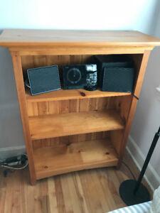 Solid pine Mennonite-made bookcase