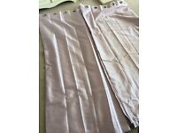 Light pink tab top curtains