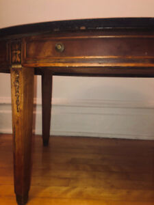 Wooden vintage oval table