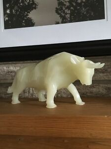 Alabaster Bull Figurine Kitchener / Waterloo Kitchener Area image 1